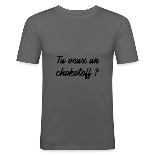 Tu veux un chokotoff ? - T-shirt près du corps Homme