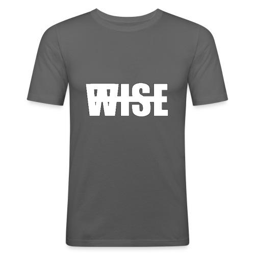 WISEFINALwhite - Men's Slim Fit T-Shirt