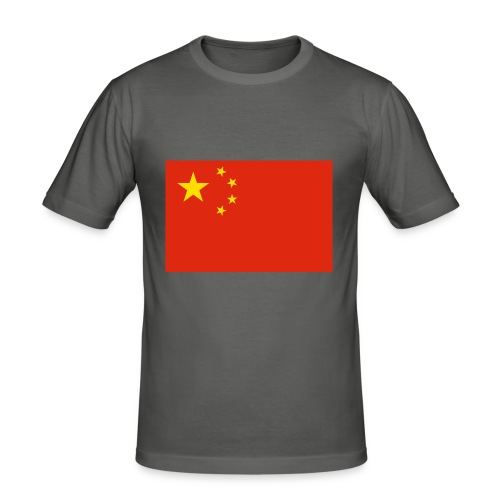 Small Chinese flag - Men's Slim Fit T-Shirt