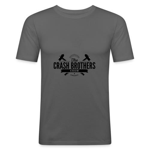 LOGO_SVART_CREW - Slim Fit T-shirt herr
