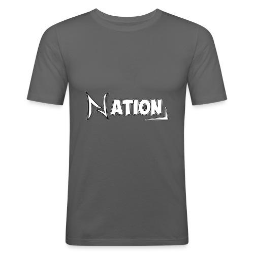 Nation Logo Design - Men's Slim Fit T-Shirt