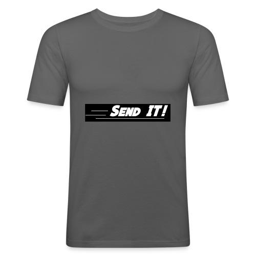 send it logo black and white - Men's Slim Fit T-Shirt