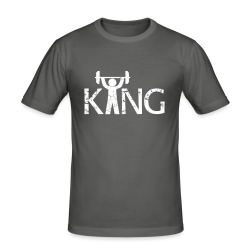 King of the Gym - Männer Slim Fit T-Shirt