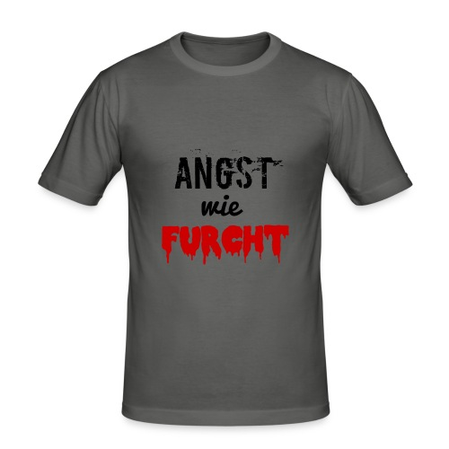 angstwiefurcht_v1 - Männer Slim Fit T-Shirt