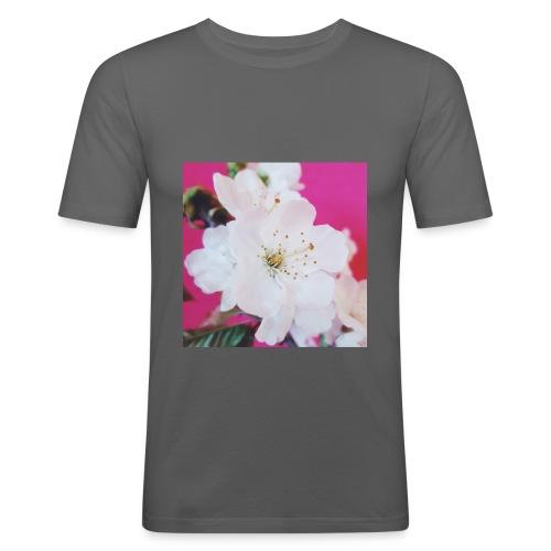 Cherry Blossom - Männer Slim Fit T-Shirt