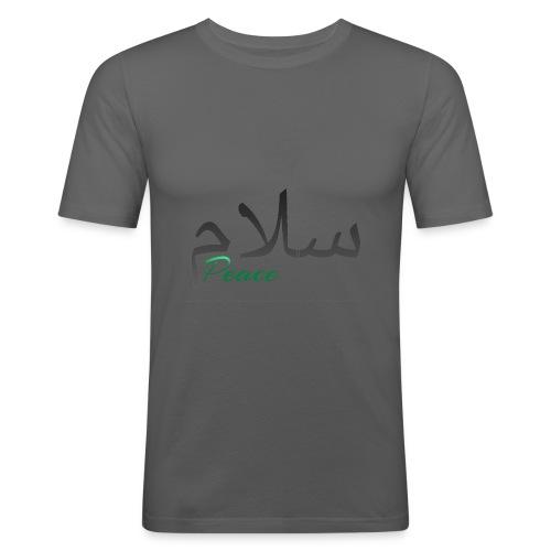 Arabic Salam text - Men's Slim Fit T-Shirt