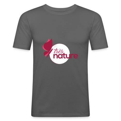 rond_rose_pap_t_sh - T-shirt près du corps Homme