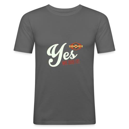YES-creme-nappo - Männer Slim Fit T-Shirt