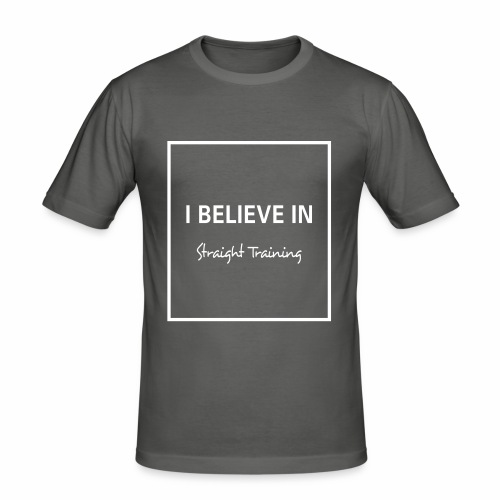 I believe in - Männer Slim Fit T-Shirt