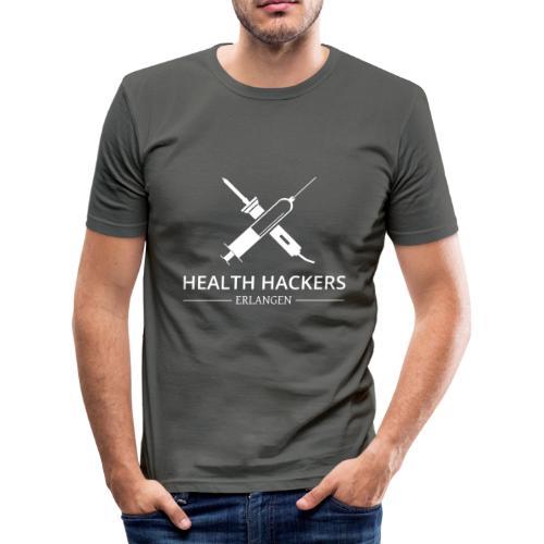 Logo Health Hackers e.V. - Männer Slim Fit T-Shirt