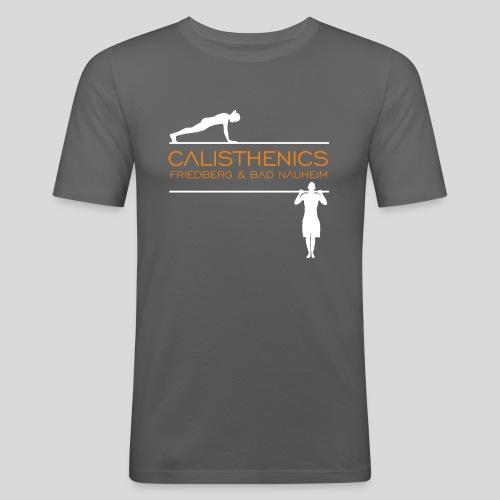Calisthenics Friedberg / Bad Nauheim (weiss) - Männer Slim Fit T-Shirt