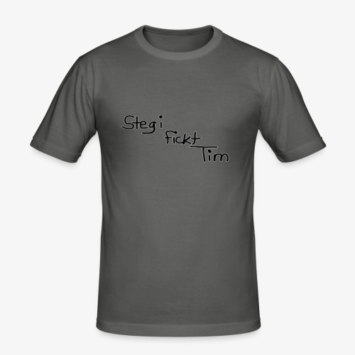 Stegi fickt Tim - Männer Slim Fit T-Shirt