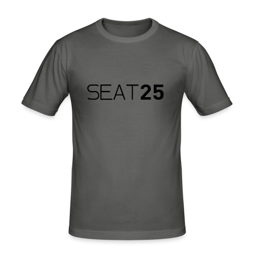 Seat25 Logo Dark - Men's Slim Fit T-Shirt