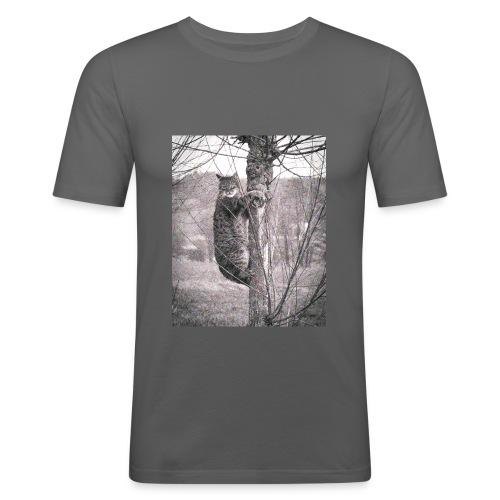 Grumpy Koala Katze im Baum - Männer Slim Fit T-Shirt