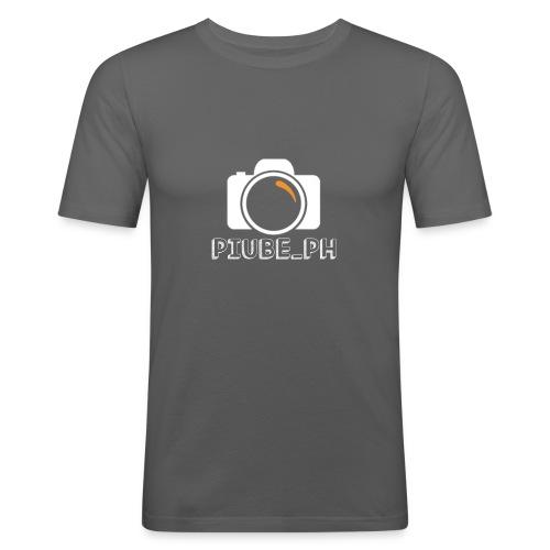 PiubePH - Maglietta aderente da uomo