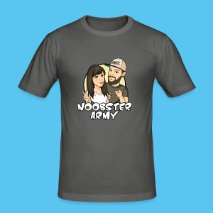 Noobsterarmy Couple - Männer Slim Fit T-Shirt