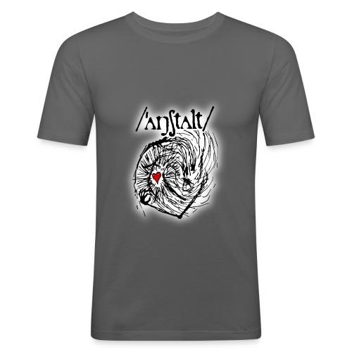 wesen mit herz und logo - Männer Slim Fit T-Shirt