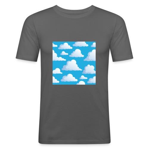 Cartoon_Clouds - Men's Slim Fit T-Shirt