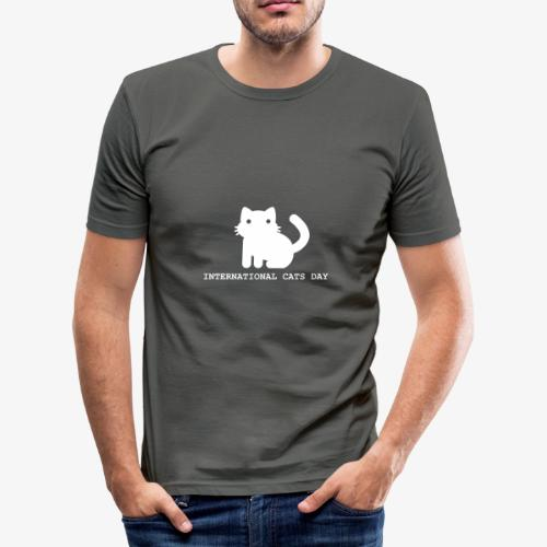 International Cats Day - Men's Slim Fit T-Shirt