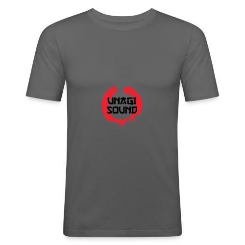 UNAGI SOUND LOGO - Men's Slim Fit T-Shirt