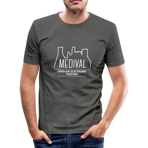 Medival Skyline weiß - Männer Slim Fit T-Shirt