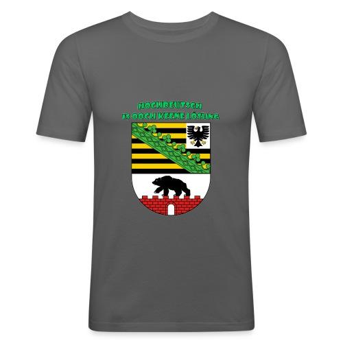 Hochdeutsch is ooch keene Lösung - Männer Slim Fit T-Shirt