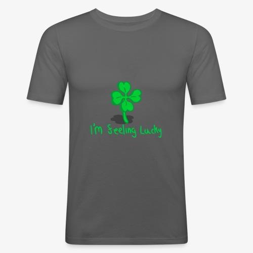Lucky Four Leaf Clover - Men's Slim Fit T-Shirt