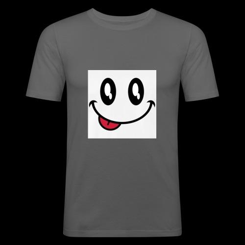 augen-smiley-zunge-t-shirts-maenner-premium-t-shir - Männer Slim Fit T-Shirt