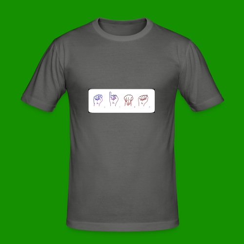 Sina Fingersprache - Männer Slim Fit T-Shirt