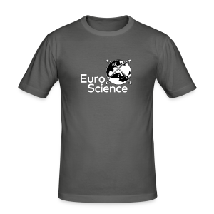 Euroscience logo White - Men's Slim Fit T-Shirt