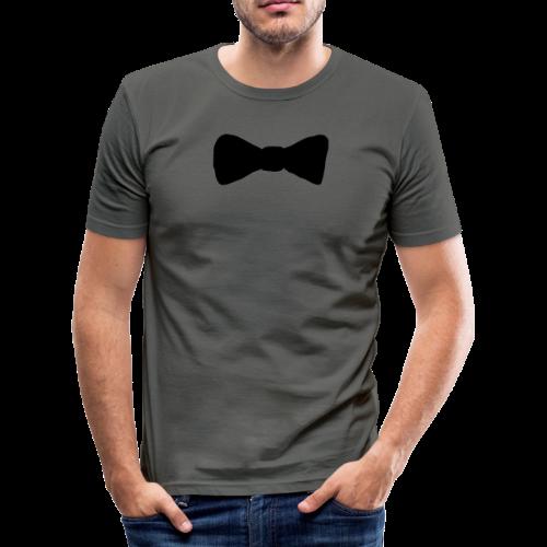Black Bow tie - Slim Fit T-shirt herr