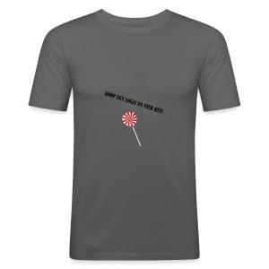 Kioop_een_lolly_en_vier_het - slim fit T-shirt