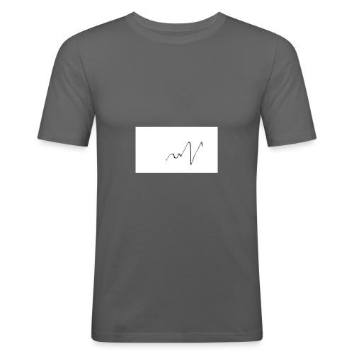 ritmo del cuore - Maglietta aderente da uomo