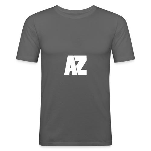 Androklez White Text - Men's Slim Fit T-Shirt