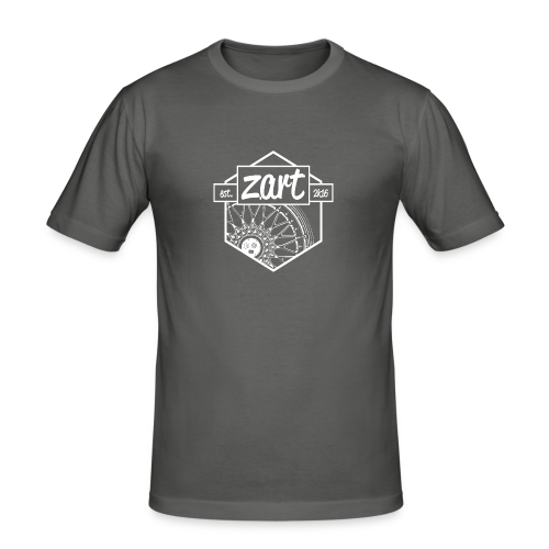 z.art Logo | white - Männer Slim Fit T-Shirt