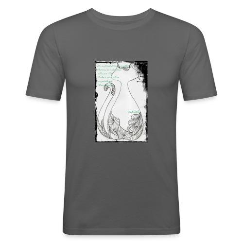Gatto elegante 2 - Maglietta aderente da uomo