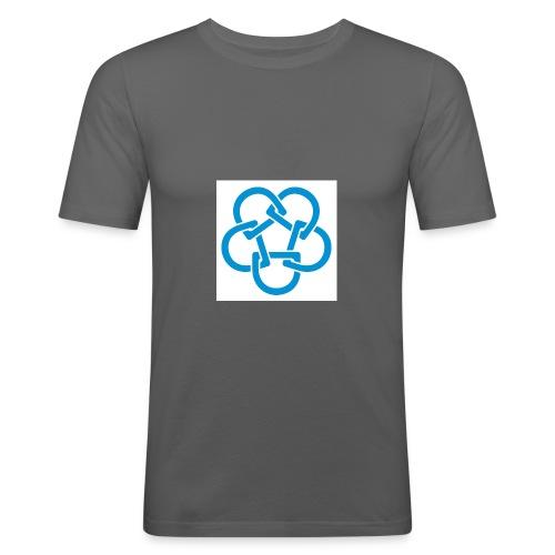 Diabetesf--rbundet_blomma__webb_pms - Slim Fit T-shirt herr