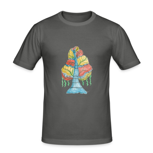 albero_alma_2015_2 - Maglietta aderente da uomo