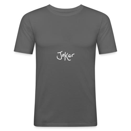 Joker Signature White - Men's Slim Fit T-Shirt