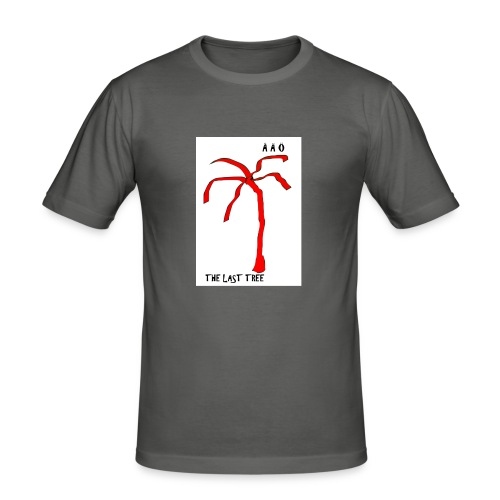 Draw-palm-red - Slim Fit T-shirt herr