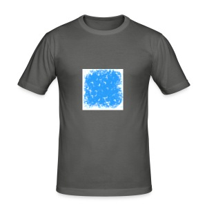blue-white - Männer Slim Fit T-Shirt