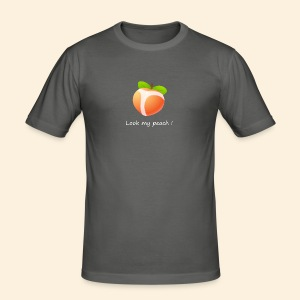 Look my peach in white - Men's Slim Fit T-Shirt