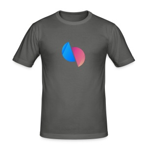 Ediplace logo färg - Slim Fit T-shirt herr