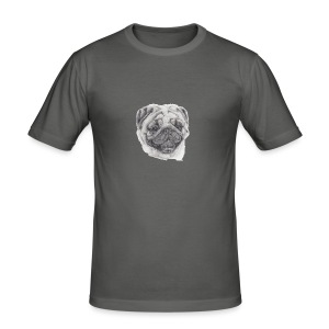 pug mops - Herre Slim Fit T-Shirt