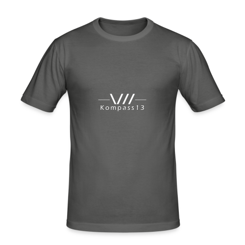 Kompass13 logo - Männer Slim Fit T-Shirt