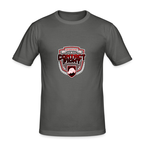 Contact Fight - Knuckles - Männer Slim Fit T-Shirt