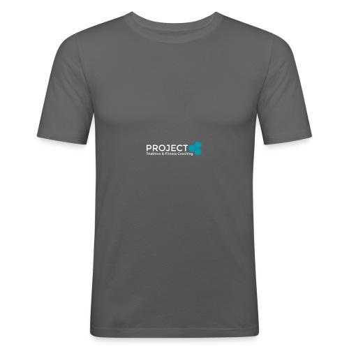 PROJECT whitetxt - Men's Slim Fit T-Shirt