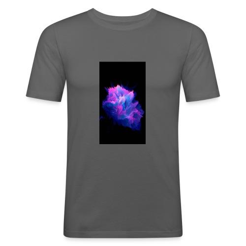 Purple and blue paint splat - Men's Slim Fit T-Shirt