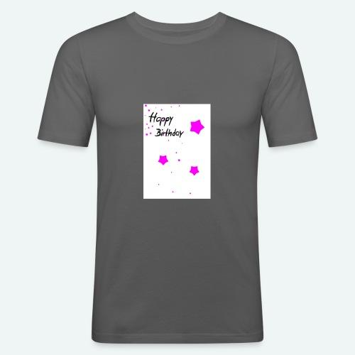 happybirthday - Männer Slim Fit T-Shirt