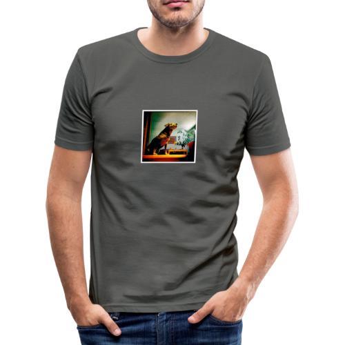 Baby Langarm - Männer Slim Fit T-Shirt